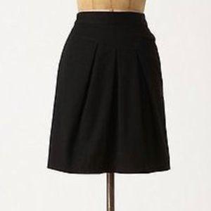 Anthropologie Tabitha Sz 4 Black 100% cotton skirt